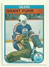 1982 82-83 OPC O-PEE-CHEE OILERS GRANT FUHR #105 ROOKIE RC NRMT CLEAN BACK