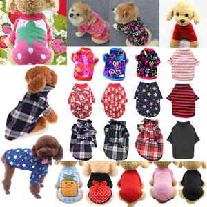 Puppy Dog Cotton Small Pet Dog Cat Jumpsuit Warm T-Shirt Tee Clothing Apparel