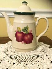 Four Star Stoneware Collectors Ceramic 8� Teapot With Apple Design