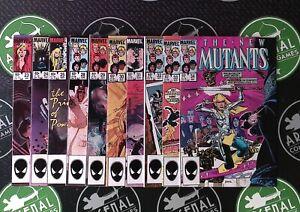 The New Mutants Lot of 11 (#23-34) 1985 Marvel Sienkiewicz Claremont X-Men