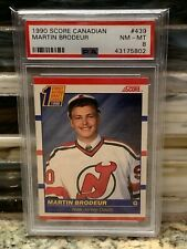 1990 Score Canadian #439 Martin Brodeur PSA 8