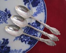 3 Antique 1896 Rogers & Hamilton Raphael Silverplate Teaspoons Use or Crafts