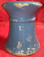 WH Ceramic Blue Rustic Candle Holder