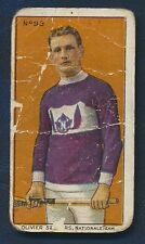 1910 C60 Imperial Tobacco Card #93 Oliver Secours LaCrosse Montreal Wanderers