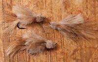 Mihulka Marabou Muddler STREAMER Fly: Set of three flies, Hand tied in USA
