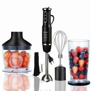 Hand Stick Blender Mixer 750-1500W Vegetable Meat Grinder 4-in-1 Stainless Steel