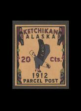 "1910 U.S. Ketchikan Alaska ""Parcel Post"" 20cts, GlobalWorld Phantom"