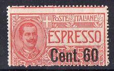 1922 REGNO ESPRESSO 60 CENTESIMI SU 50 INTEGRO C/4321
