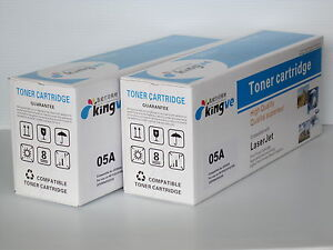2PK Compatible black Toner cartridge For HP 05A CE505A fit HP P2030 P2035