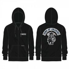 FALL '13 AUTHENTIC SONS OF ANARCHY SOA LOGO REAPER ROCKER PATCH HOODIE S M L XL