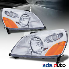For 2003 2004 2005 Honda Pilot Chrome Headlights Replacement Lamps Set