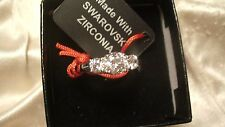 sterling silver with platinum overlay New Swarovski zirconia ring.size 9,925