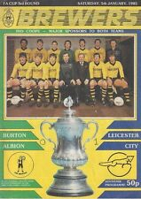 BURTON ALBION v LEICESTER CITY ~ FA CUP 3RD ROUND ~ 5 JANUARY 1985 AT DERBY (1)