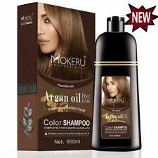 Natural Shampoo Hair Color Shampoo Permanent Dye Colour Cover Gray White 500ML