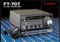 Yaesu FT-707 HF SSB HAM Transceiver Radio Orig Factory Dealer Brochure/Poster