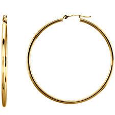 14 Karat Yellow Gold Filled 2.2 Inch (55mm) Snap Hoop Earrings