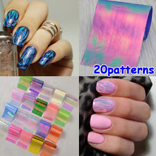 NEW 20 Mix Colors Foils Stickers Nail Art Transfer DIY Tips Decoration Manicure