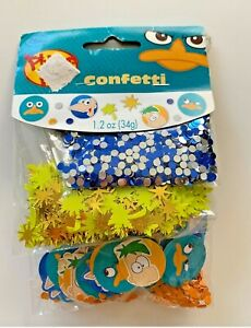 PHINEAS & FERB CONFETTI 🎊 VALUE PK 3 types Birthday Party Supplies Decor NEW