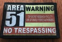 Area 51 Morale Patch Tactical ARMY Hook Military USA Badge Flag