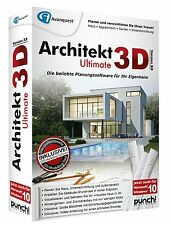 Architekt 3D Ultimate X8 Win CD/DVD Haus Appartement Garten + PDF Experte 8 PRO