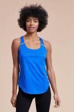 Racerback Vest Top Size UK 8 Ladies Jungle Blue Sports Running Tank BNWT #B-462