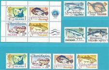 Island aus 1998-2000 ** postfrisch - Fische! Block 21 + MiNr.886-889, 903-904...