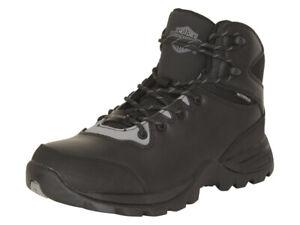 Harley-Davidson Men's Benham Waterproof Black/Grey Boots Shoes
