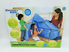 Discovery Kids 77 Piece Build & Play Construction Fort Endless Ways To Play New