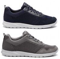 GEOX SP ERAST U923EB scarpe uomo sneakers pelle camoscio tessuto stringhe casual