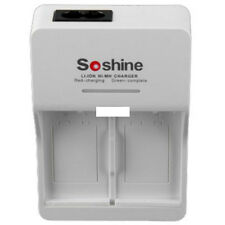 Soshine 9V Li-ion Rapid Charger for X2 TWO 9V rechargeable Battery EU/US Plug