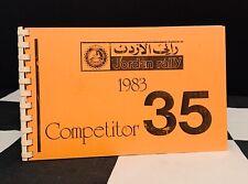 1983 MARRIOTT JORDAN RALLY ORIGINAL COMPETITOR #35 FINISH & START TIMING CARDS