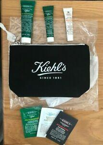 Kiehls Wash Bag + Travel Kit -  Oil Eliminator + Daily UV Defence - New
