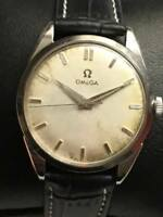Vintage OMEGA Antique Hand Winding Silver Dial Mens WATCH CAL 284 SWISS MADE RRR