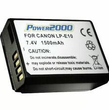 Power2000 LP-E10 Battery for Canon EOS Rebel T3, T5, T6, T7 SLR Camera -Sealed