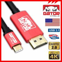 USB-C Type C to HDMI HDR 4K 2K 60Hz Cable UHD Adapter Converter HDTV S8 S9  6FT