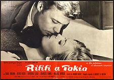 CINEMA-fotobusta RIFIFI' A TOKIO boehm,kishi,lass,vanel,DERAY