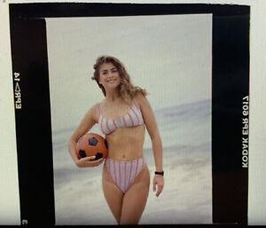 Color Photo Slide Swimsuit Model Kathy Ireland Catalog Production Used Negative