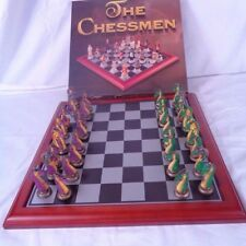 The Chessmen Dragon Chess Set Green/Purple  New -  Free Shipping