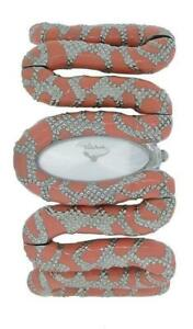 Roberto Cavalli R7253195525 Cleopatra Women's Coral Tone Snake Analog Watch