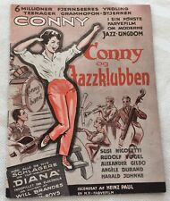 "Hula-Hopp, Conny""Conny Froboess Nicoletti 1959 Danish Vtg Original Movie Program"