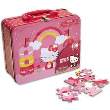 SANRIO HELLO KITTY 100 pcs PUZZLE + TIN LUNCH BOX GIRLS KEEPSAKE BAG GIFT CASE