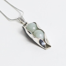 35th Wedding Anniversary Jade Two Pea In A Pod Necklace