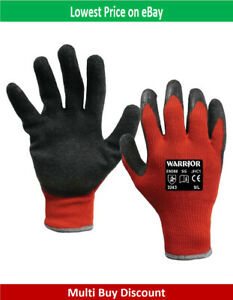 Construction Supa Grip Knitted Polyester Crinkle Latex Coating Work Gloves