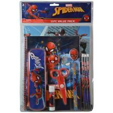 Spiderman 11pc Value Pack with Plastic Pencil Case in Pvc Bag with Header