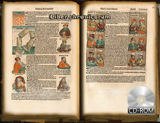 Liber chronicarum 1493 AD -universal history By Hartmann Schedel- Illuminations