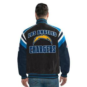 G-III Officially Licensed NFL San Diego Chargers Varsity Suede Leather Jacket L