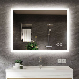 Bathroom LED Mirror [IP44]  with Bluetooth Speaker Touch Sensor Dimmable Light