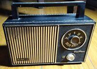 Vintage RARE Naco Dual Power Solid State 12 Radio - WORKS
