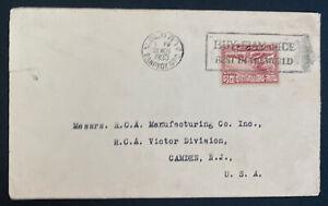 1935 Bangkok Thailand Slogan Cancel Commercial Cover To Camden NJ USA