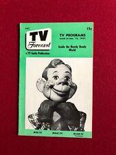 """1951, Howdy Doody, """"TV FORECAST"""" (RARE) (No Label)"""